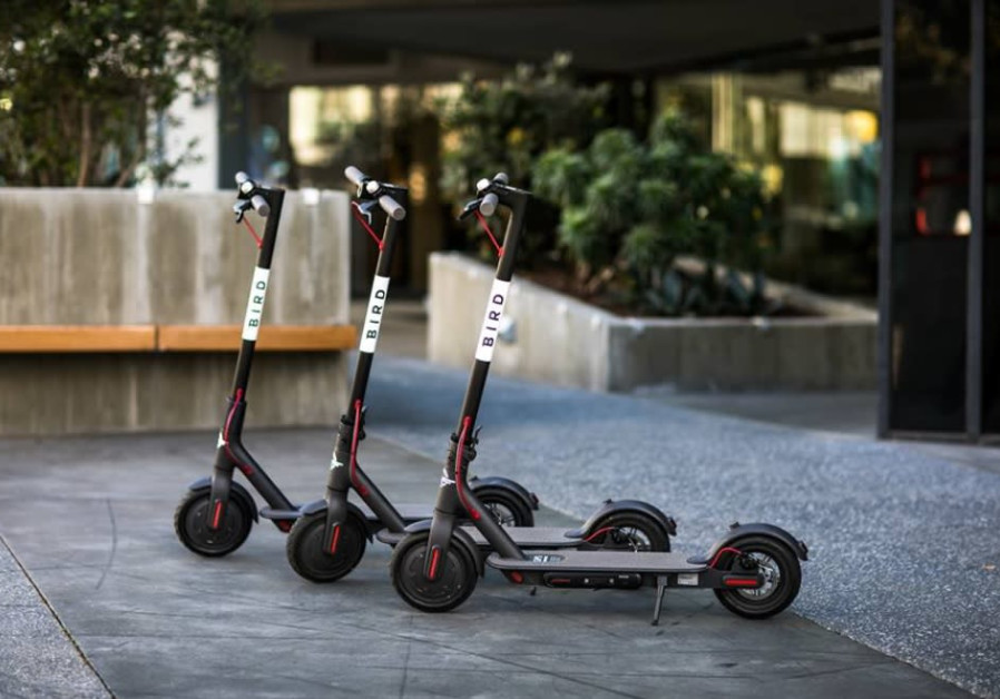 California-headquartered Bird's shared electric scooters