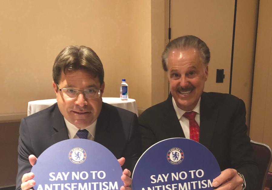 Akunis joins Mike Evans in saying 'no to antisemitism'