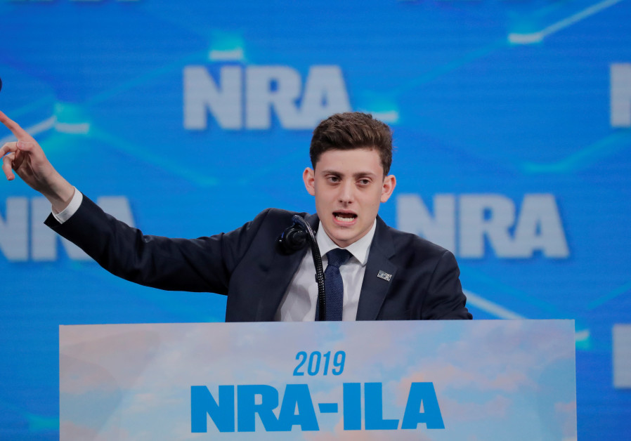 Activist Kyle Kashuv addresses the 148th National Rifle Association (NRA) annual meeting in Indianap