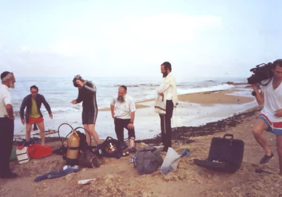 Making History! – The first day they scuba dove for the snails at the Achziv Beach in Northern Israel. (The Heart of Israel)
