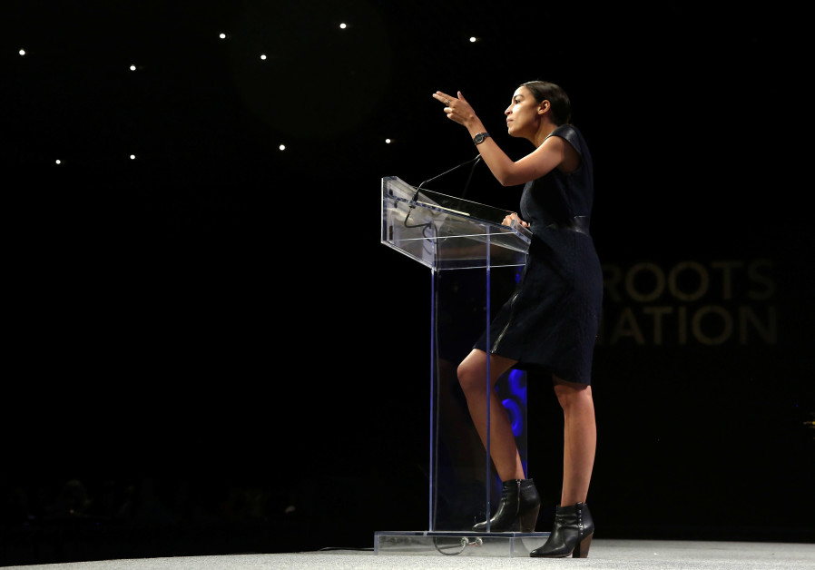 Alexandria Ocasio-Cortez speaks at the Netroots Nation annual conference for political progressives