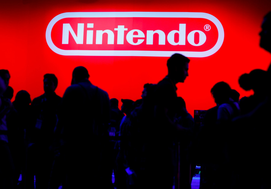 A display for the gaming company Nintendo is shown during opening day of E3, the annual video games