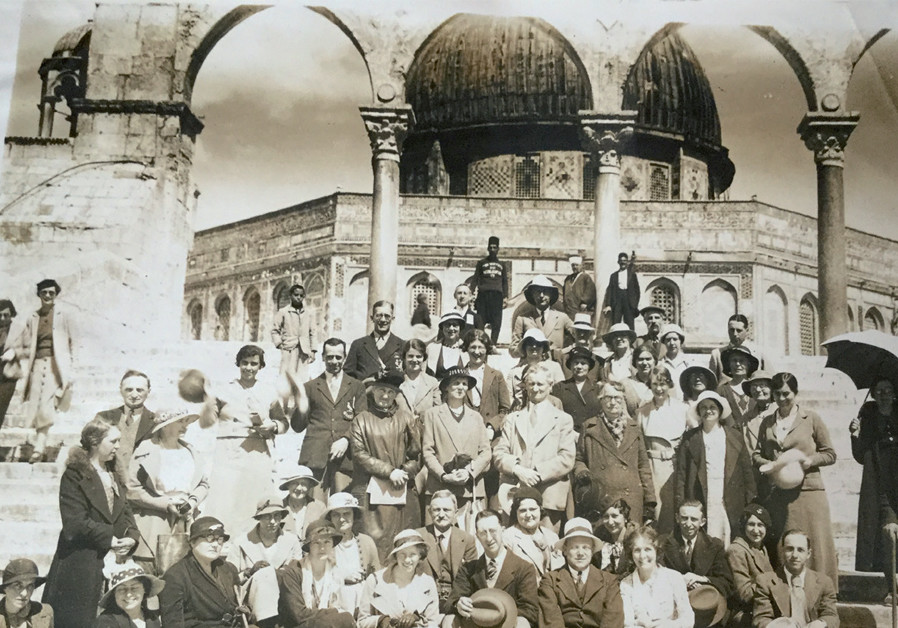 The tour party posing for a photograph on the Temple Mount (Credit: IDA BEBBINGTON)