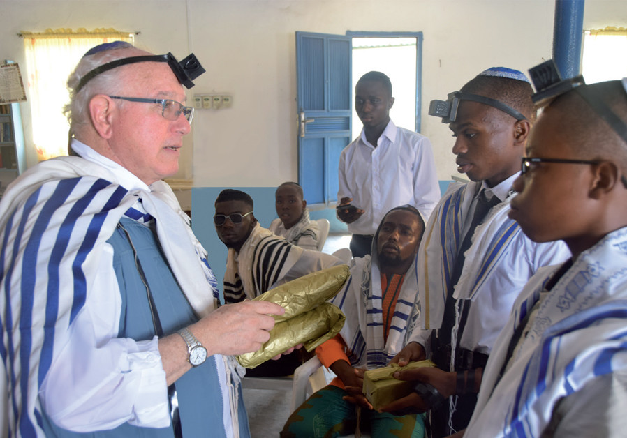 Officiating a simcha in Nigeria