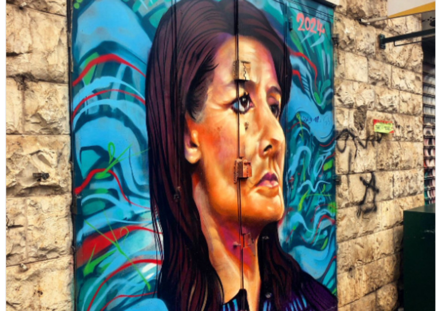 Nikki Haley immortalized in graffiti at Jerusalem's Mahane Yehuda Market
