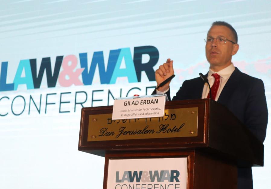 Erdan slams terrorists for 'abusing international law,' warns U.N.