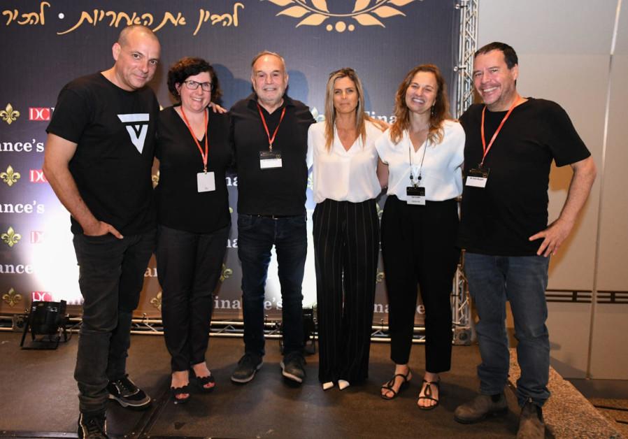 From right: Yanki Margalit. Yael Ovadia. Adi Sofer-Teeni, Nissim Bar-El. Hagit Adler. Yoel Cheshin
