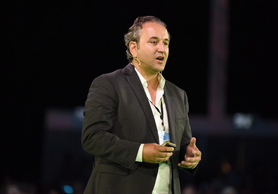 Olivier Elbaz, Salesforce senior regional vice president, addresses the company's Basecamp Tel Aviv
