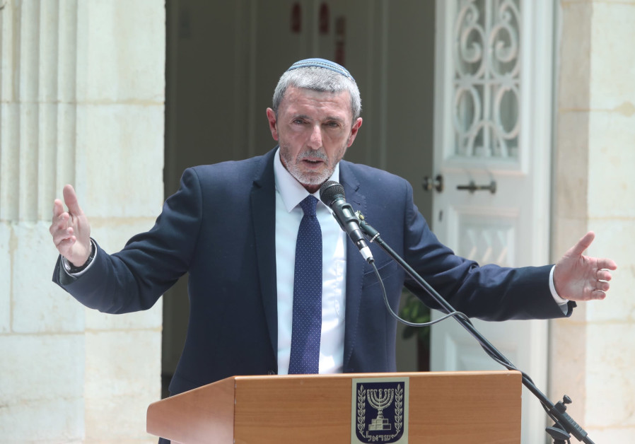 MK Rafi Peretz at a ceremony at the education ministry