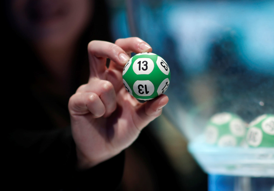 "A ball used for the ""Super LOTO"", a lottery game draw, by the French lottery company FDJ"