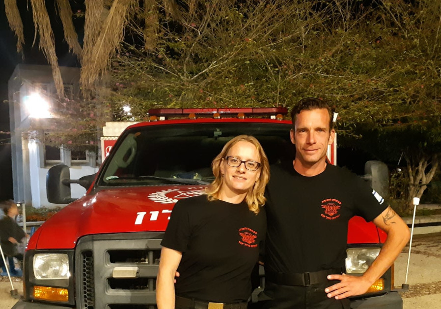 Mirjam and Raymond Reijnen from the Netherlands are part of the Nahal Oz volunteer fire force create