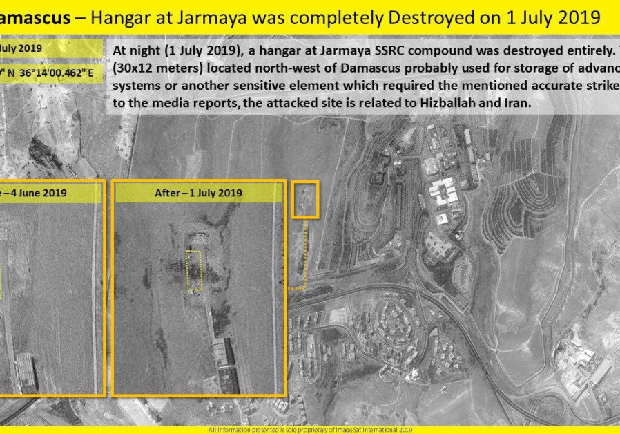 One target of an alleged Israeli airstrike in Syria on July 1, 2019