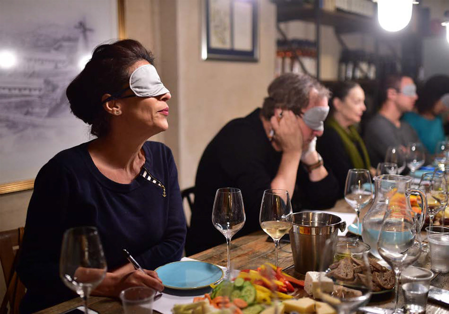 MYSTERY – MERLOT or Malbec?: Trying to recommend flavors while blindfolded. (Credit: Courtesy)