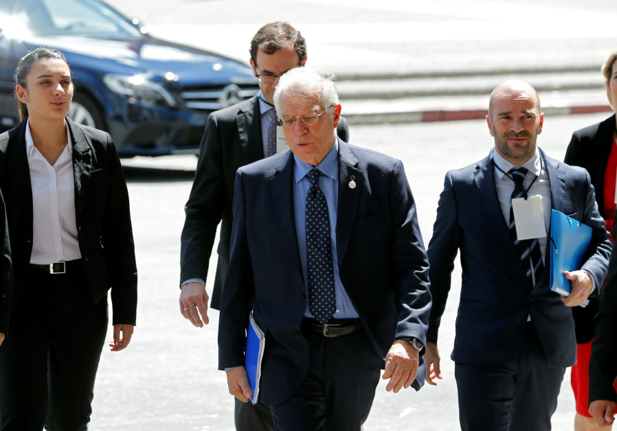 Spanish Minister of Foreign Affairs Josep Borrell Fontelles arrives to Executive tower in Montevideo