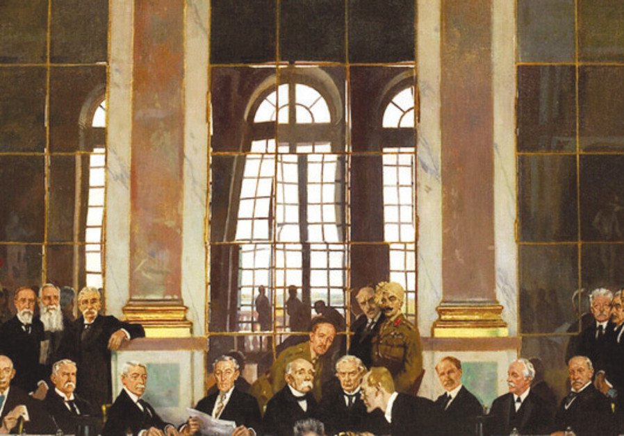THE SIGNING of the Versailles Treaty is portrayed – the ill spirits are back.