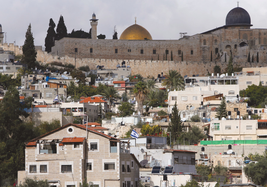 The Dome of the Rock and al-Aqsa mosque are seen from Silwan.