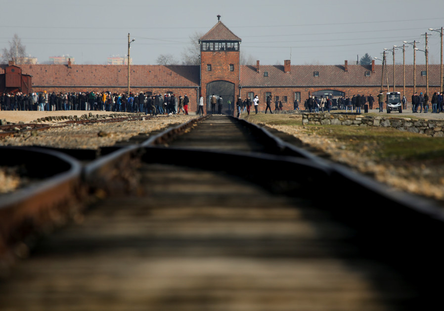 The site of the former Nazi German concentration and extermination camp Auschwitz II-Birkenau