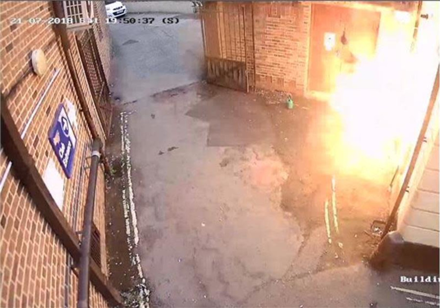 Tristan Morgan sets Exeter synagogue on fire on July 21, 2018.