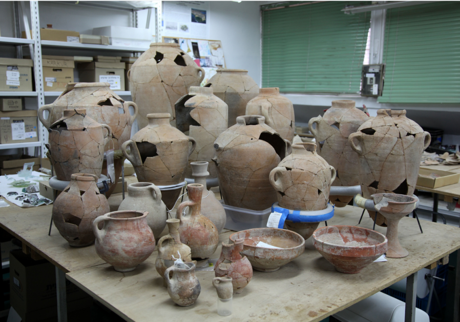 Collection of jugs found at the archaological dig.
