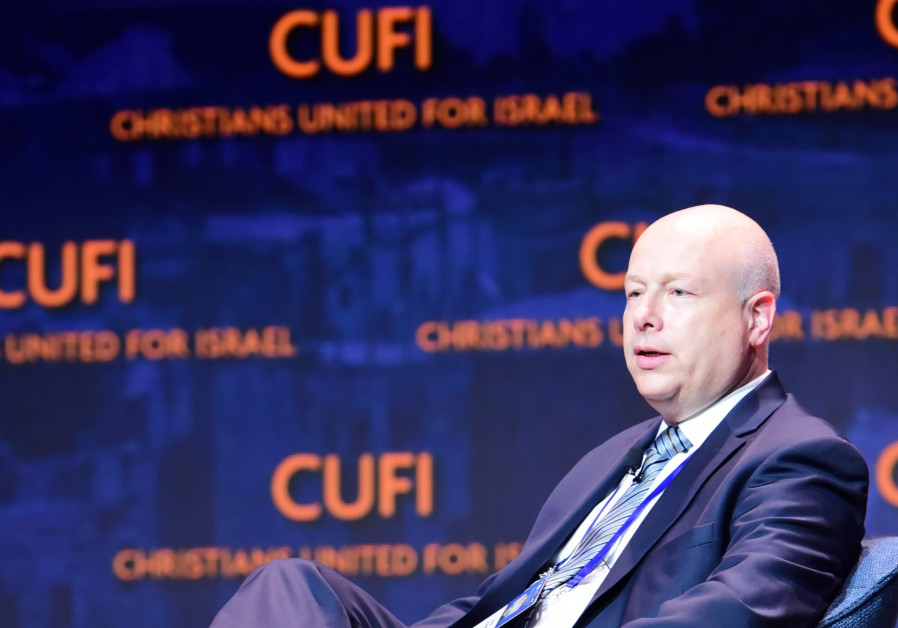 Jason Greenblatt speaking at the Christians United for Israel conference in Washington.
