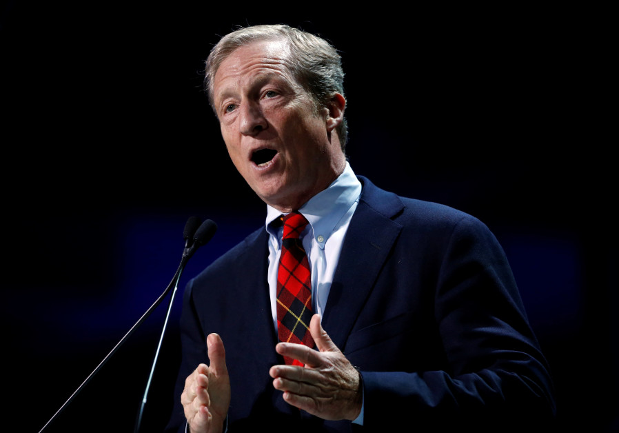 Tom Steyer, founder of NextGen Climate, speaks during the California Democratic Convention in San Fr