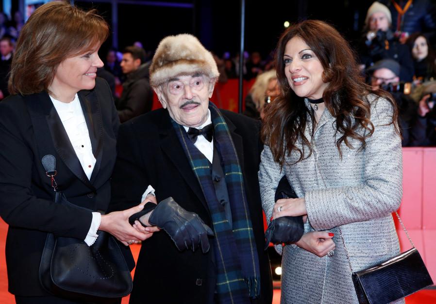 Bettina Bernhard, Artur Brauner and his daughter Alice Brauner arrive for screening of the movie Isl
