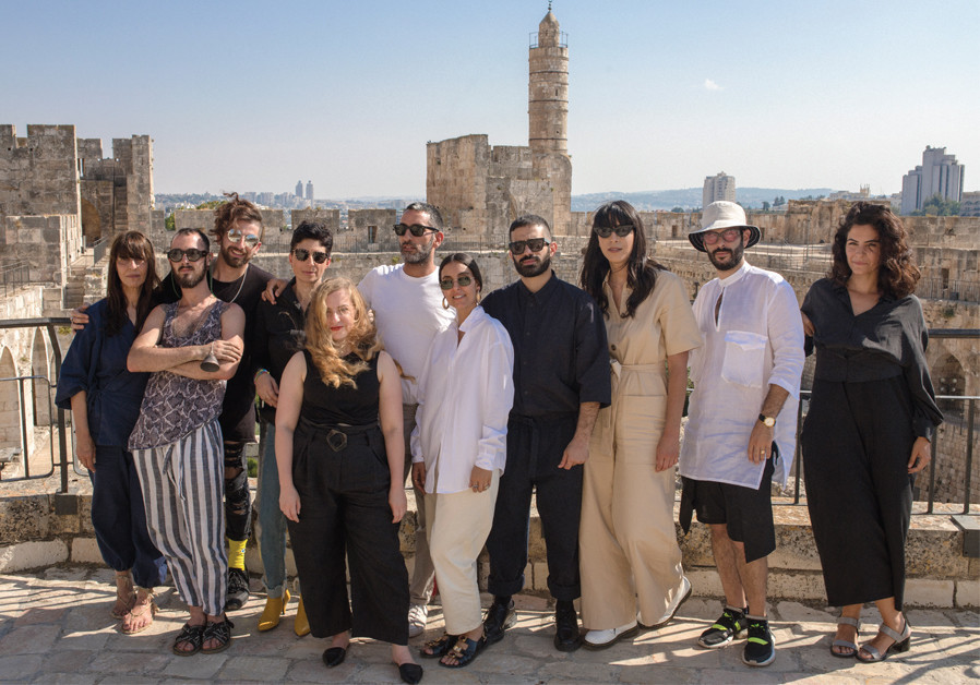 THE COLLECTIVE designers standing with artistic directors Shelly Satat-Kombor and Shachat Atwan. (Credit: RICKY RACHMAN)