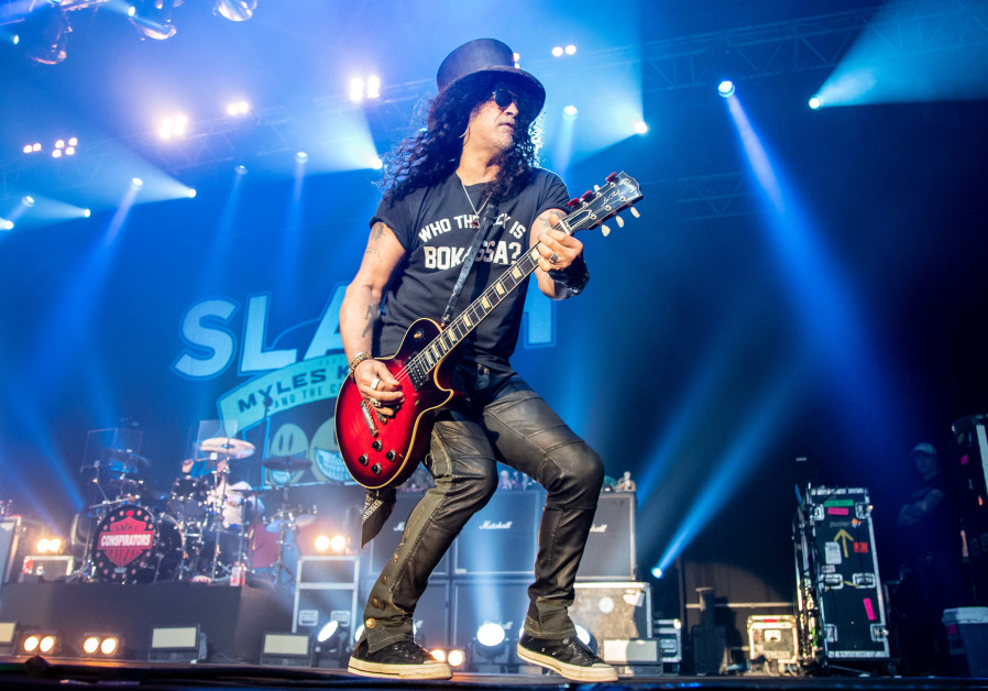 SLASH PERFORMS in Tel Aviv Tuesday night.
