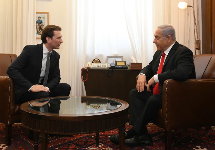 Netanyahu to Austria's Kurz: 'You are a great leader for Austria'