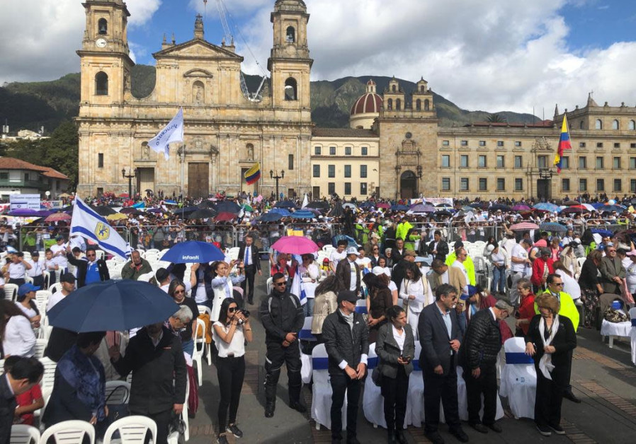 Thousands participated in a pro-Israel event in June in Bogota, Colombia.