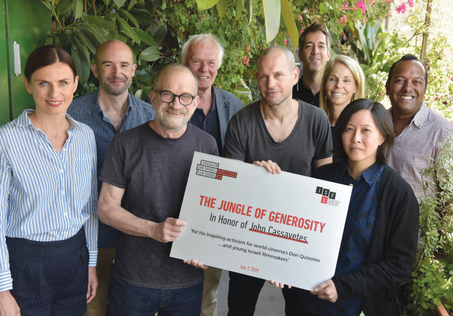 SAM SPIEGEL jury members inaugurate 'The Jungle of Generosity' garden.