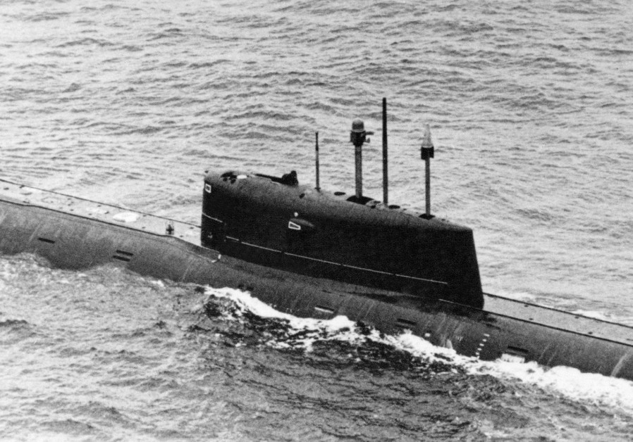 The K-278 Soviet submarine in 1986.