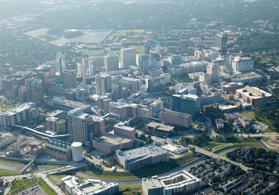 An aerial shot of Texas Medical Center, Houston