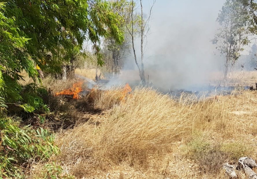 Can you spot the KKL-JNF firefighter extinguishing a fire at the Vermolin recreation site? Photo: Mo