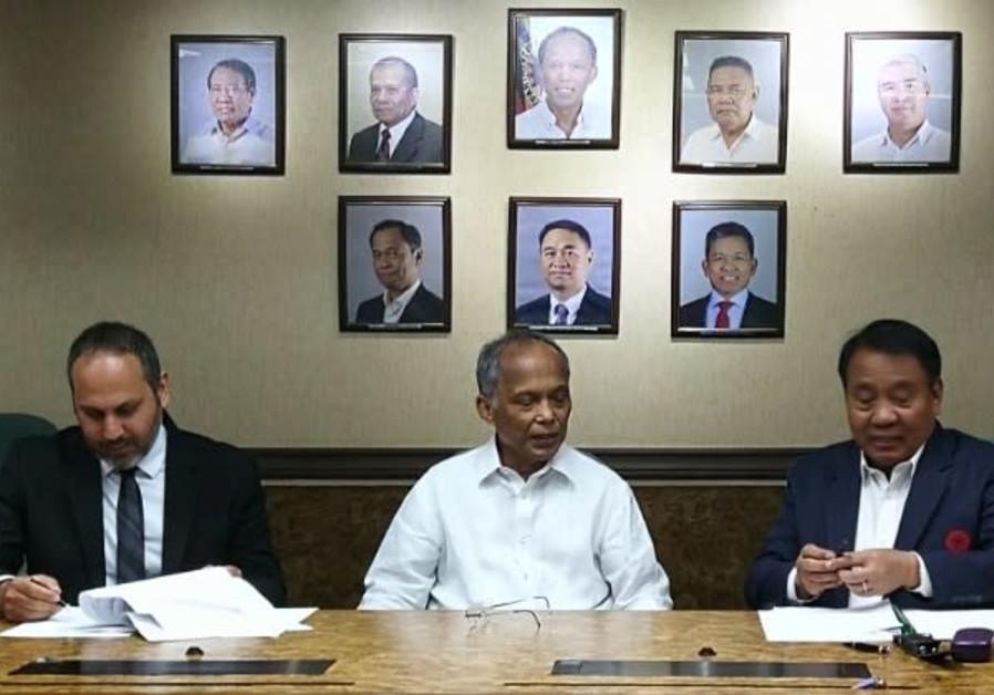 From left: Ratio Petroleum CEO Itay Raphael Tabibzada, Philippines Department of Energy Secretary Al
