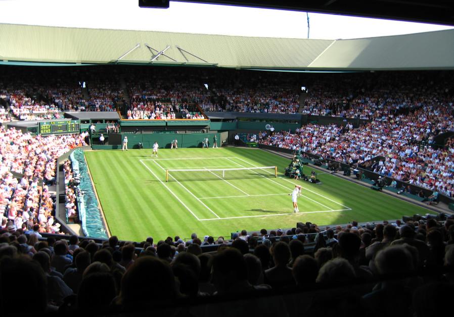 Centre court at the All England Club, Wimbledon, England