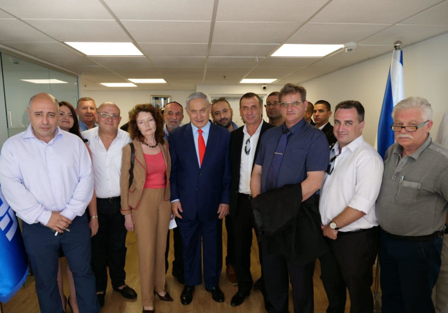 Prime Minister Benjamin Netanyahu hosts Yisrael Beytenu members who shifted to Likud July, 2019