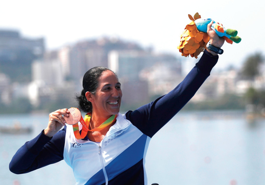 Israeli paralympic basketball player and world champion rower Moran Samuel captured a silver medal a