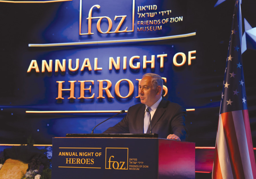 PRIME MINISTER Benjamin Netanyahu at the Annual Night of Heroes event in May in Jerusalem