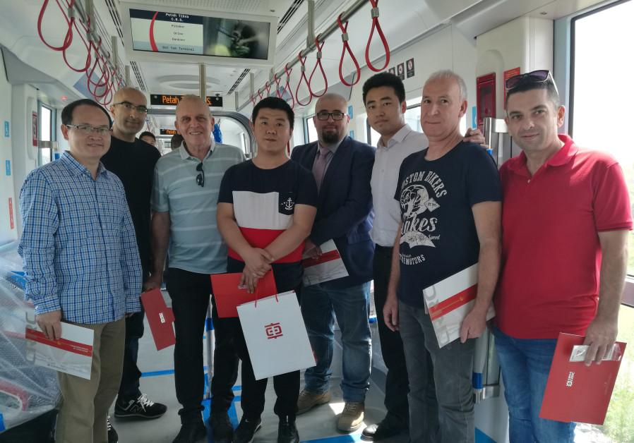 First Israelis undergo Light Rail workshop in China