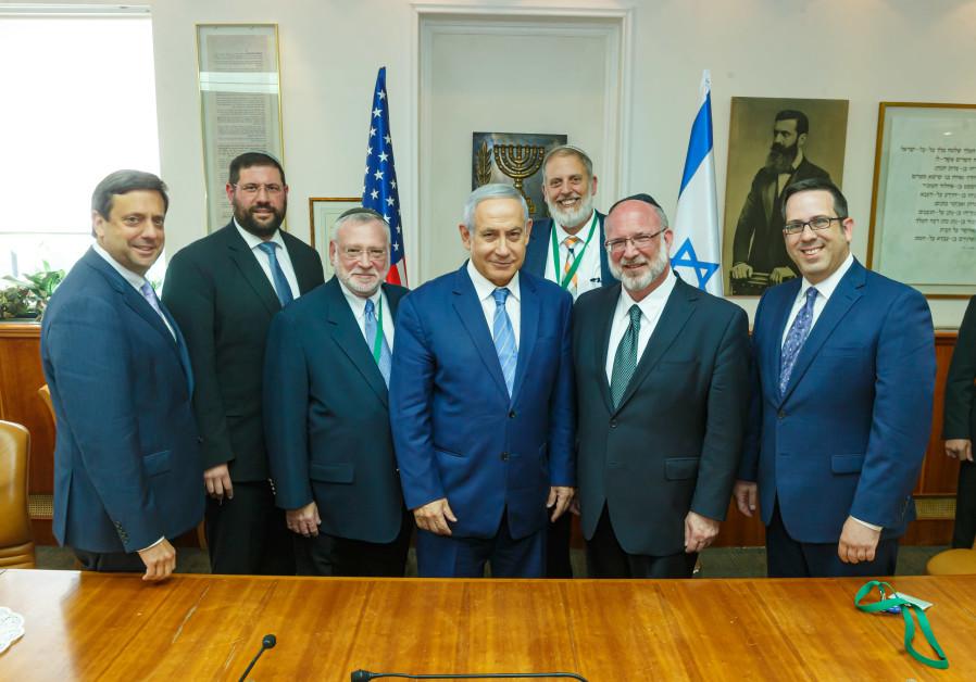 OU leadership meeting with Netanyahu on July 16, 2019 in Jerusalem.