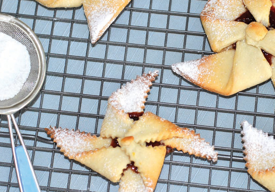 CRISPY CHEESE PINWHEEL COOKIES WITH RED JAM (Credit: PASCALE PEREZ-RUBIN)