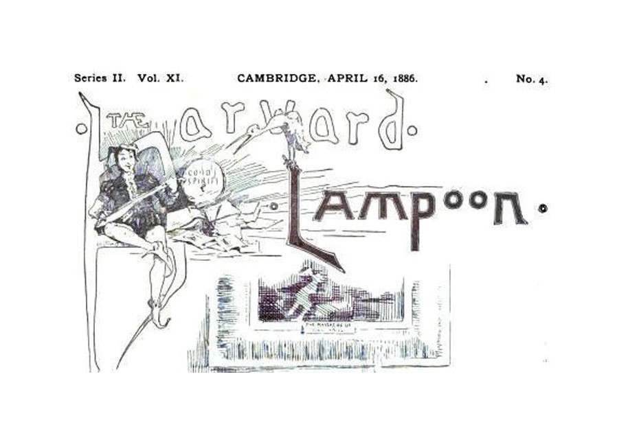 IMAGE FROM an 1886 'Lampoon.' (Credit: Courtesy)
