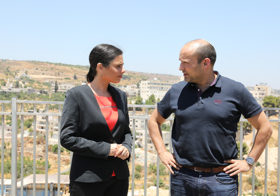 New Right leaders Ayelet Shaked and Naftali Bennett