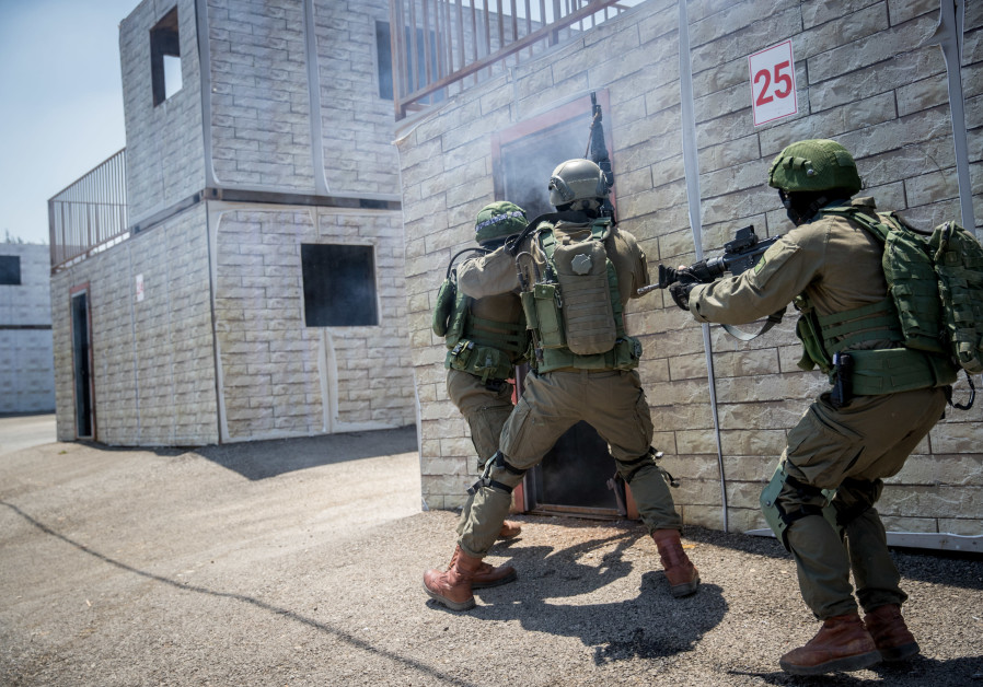 IDF's LOTAR Counter-Terror School training troops for future warfare (Credit: YONATAN SINDEL/FLASH 90)