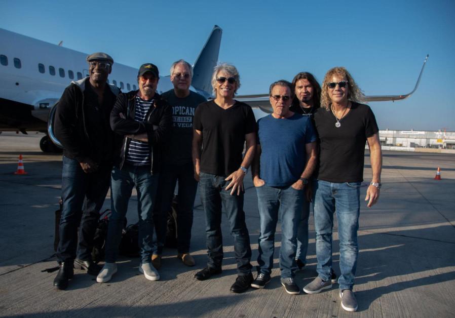 Bon Jovi arrive in Israel