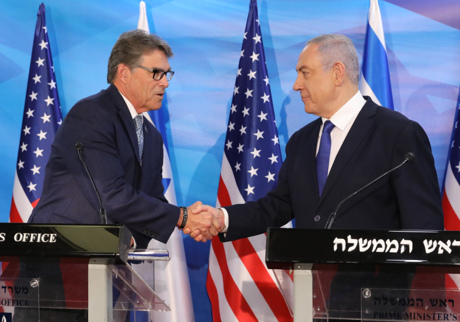 US Secretary of Energy Rick Perry meets Prime Minister Benjamin Netanyahu July 23, 2019