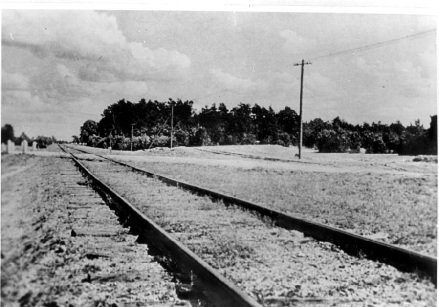 The train tracks that lead to the Treblinka death camp