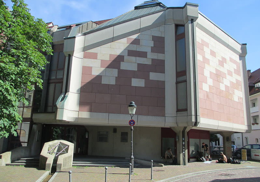 The synagogue where the attack took place in Freiburg, Germany