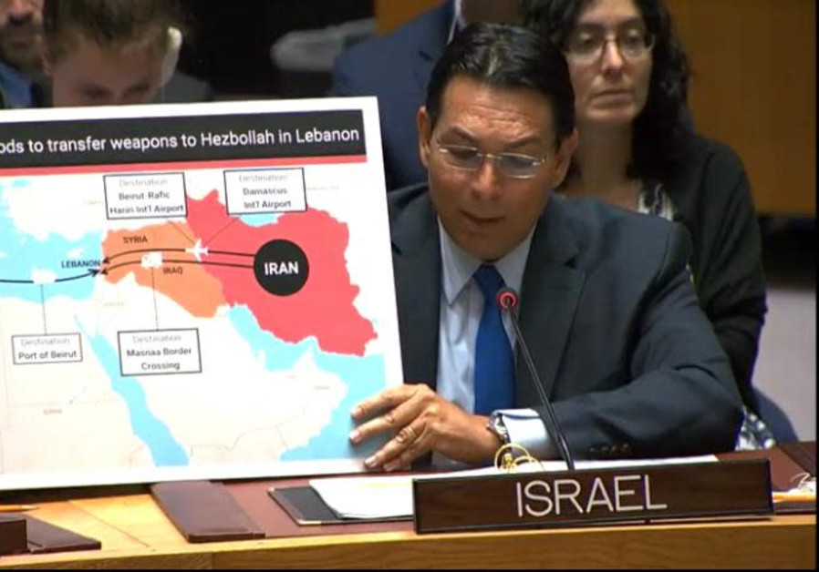 Ambassador Danon reveals new intelligence information in the Security Council: Iran and Syria are sm